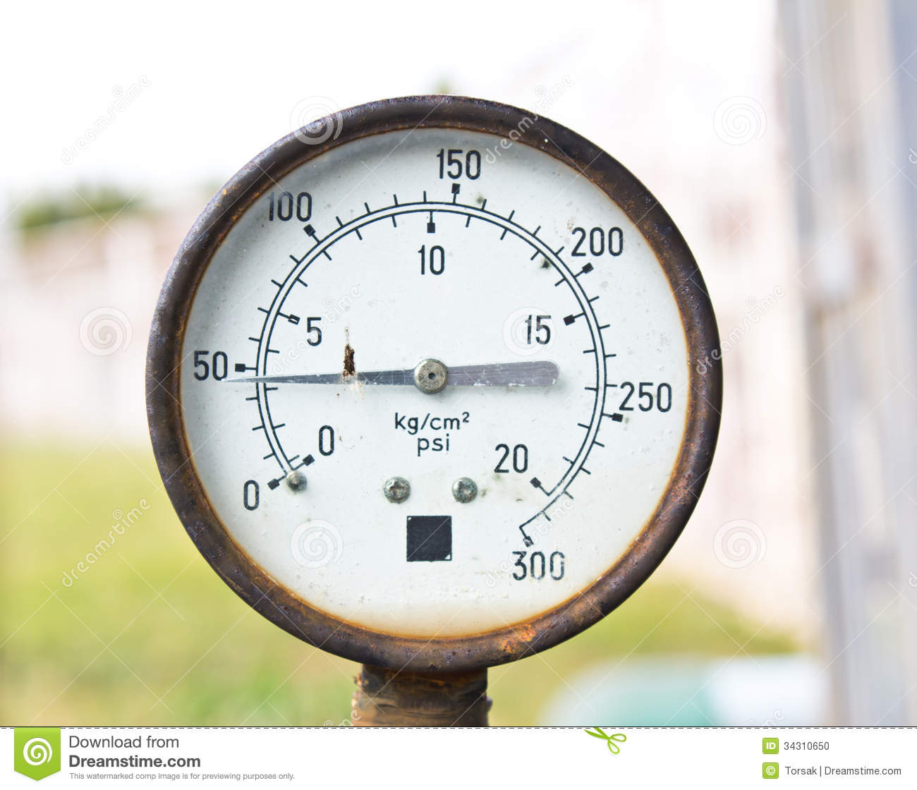 Old Pressure Gauge Indicator Stock Photo Image Of Symbol Steam