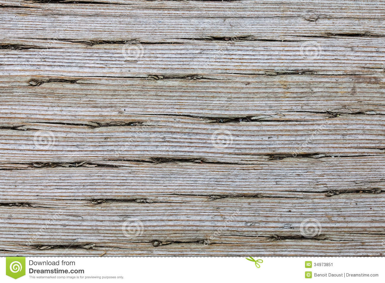 Old Pressure Treated Wood Macro Texture Stock Image
