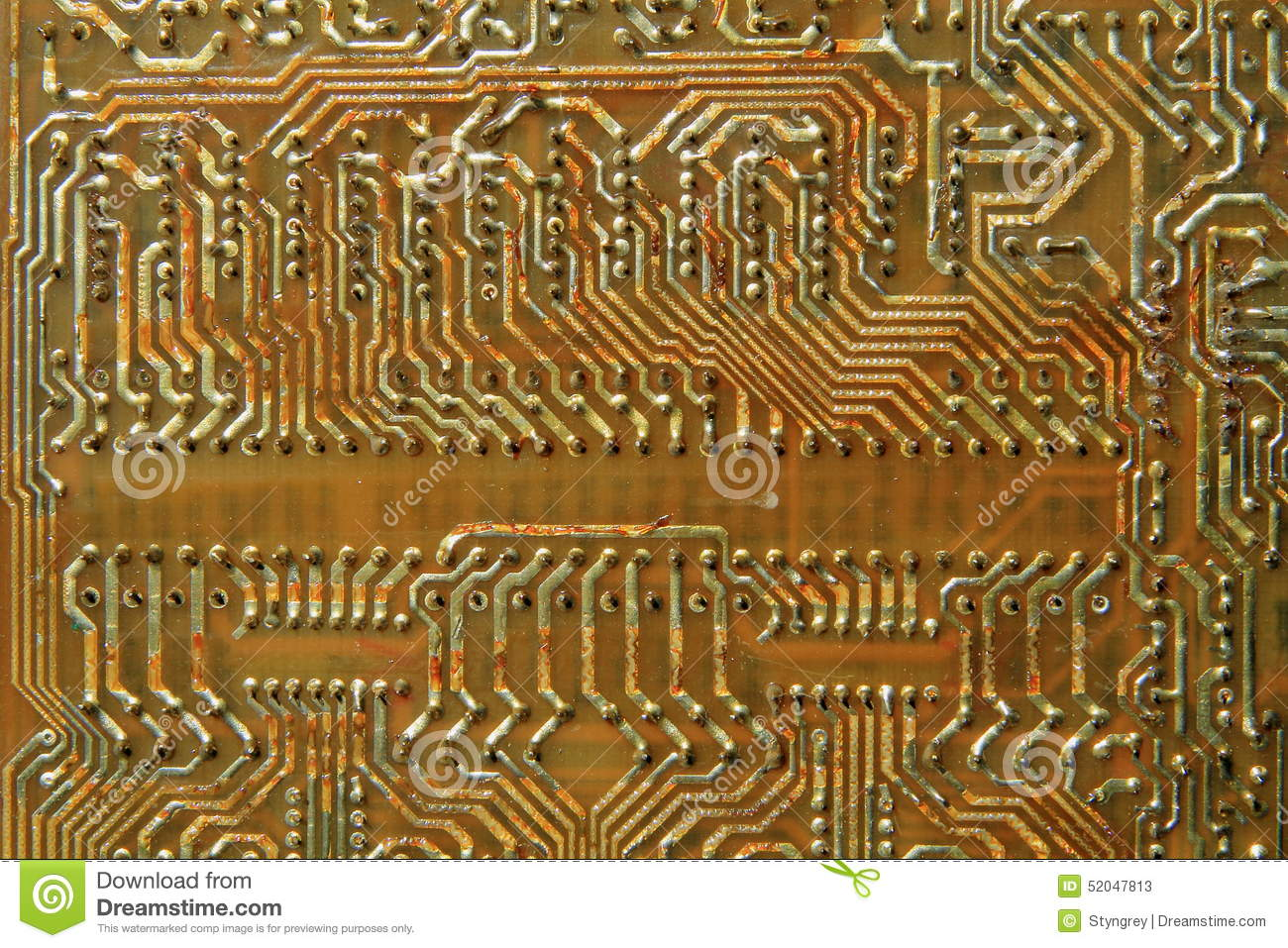 Old Printed Circuit Boards Stock Image Of Electronic 52047813 Wiring Pcb