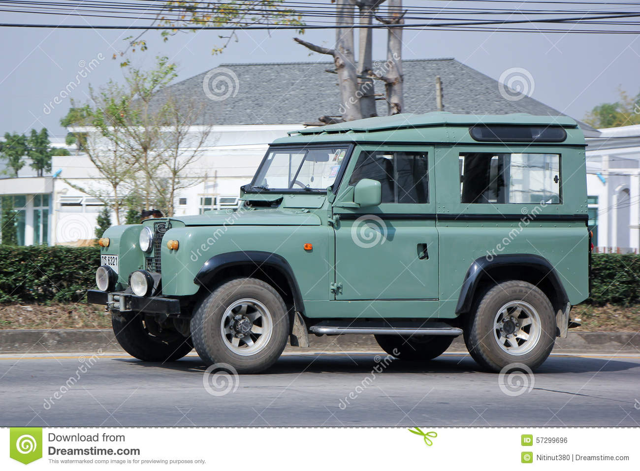 Old Private Car Land Rover Mini Truck Editorial Photo