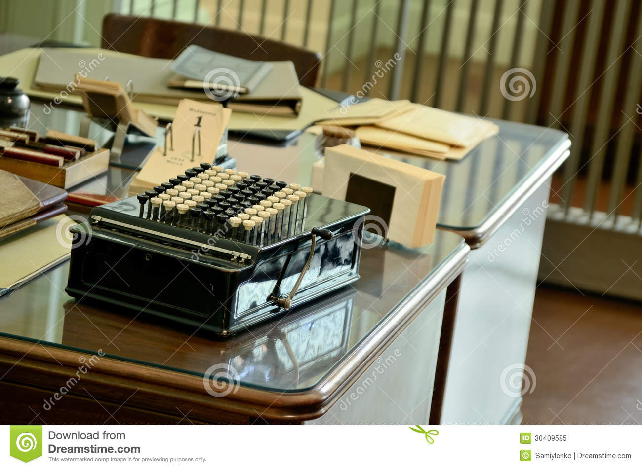 Download Old private office stock illustration. Illustration of interior - 30409585