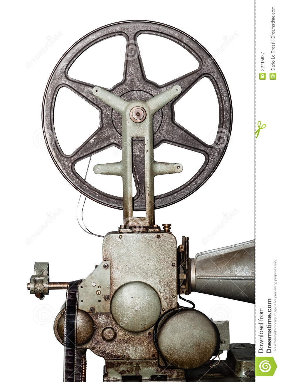 Old Projector stock image  Image of motion, history, 16mm - 32715637
