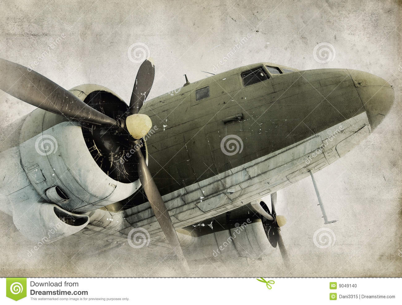 Old propeller airplane