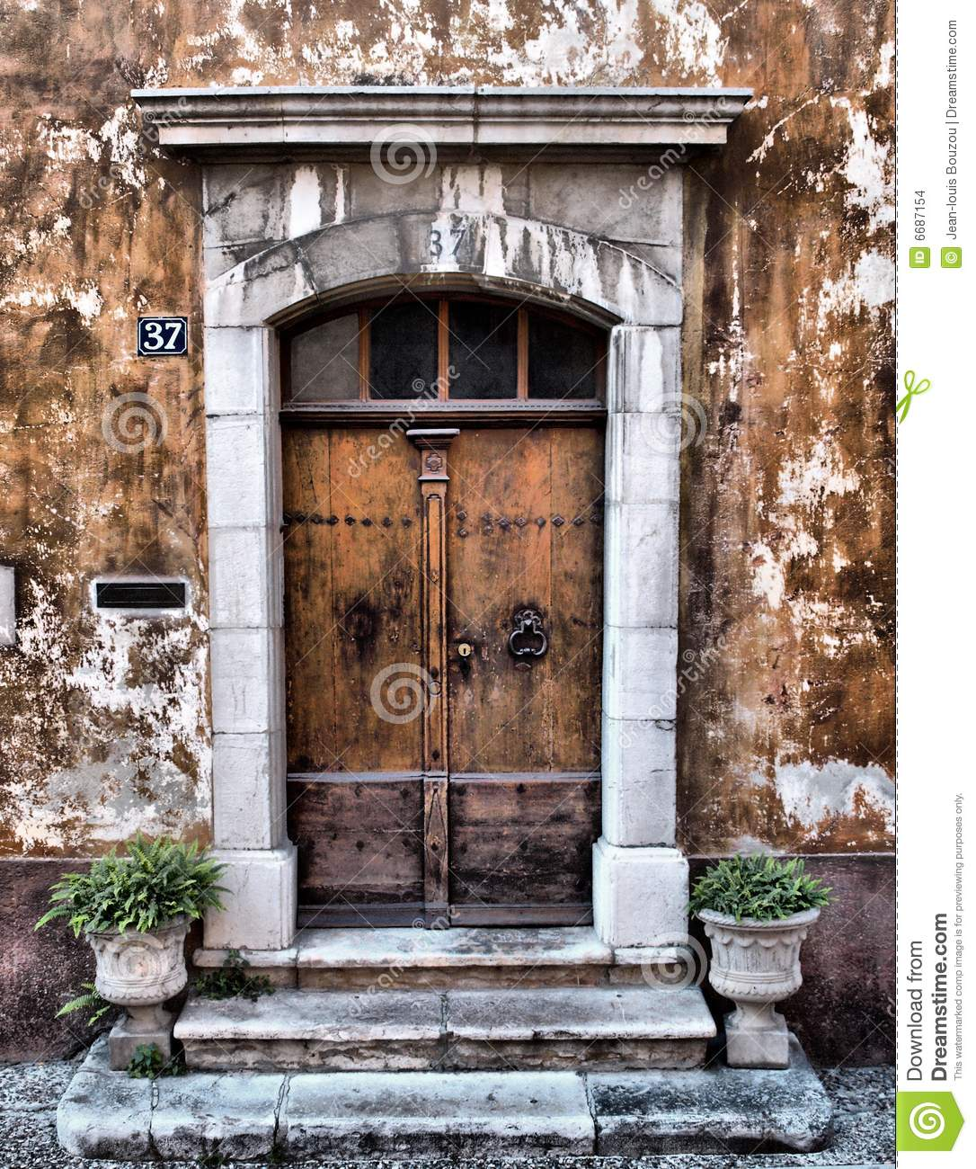 Old provence entrance door