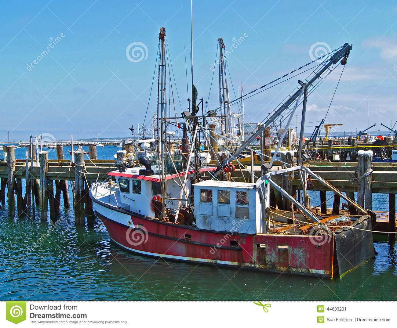 Old provincetown fishing trawler stock image image 44603201 for Mass commercial fishing license