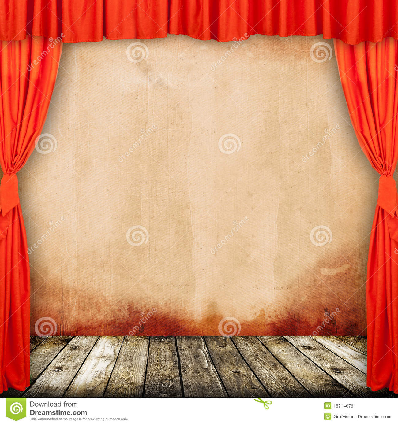Old provincial theater stock photo. Image of decor, entertainment ...