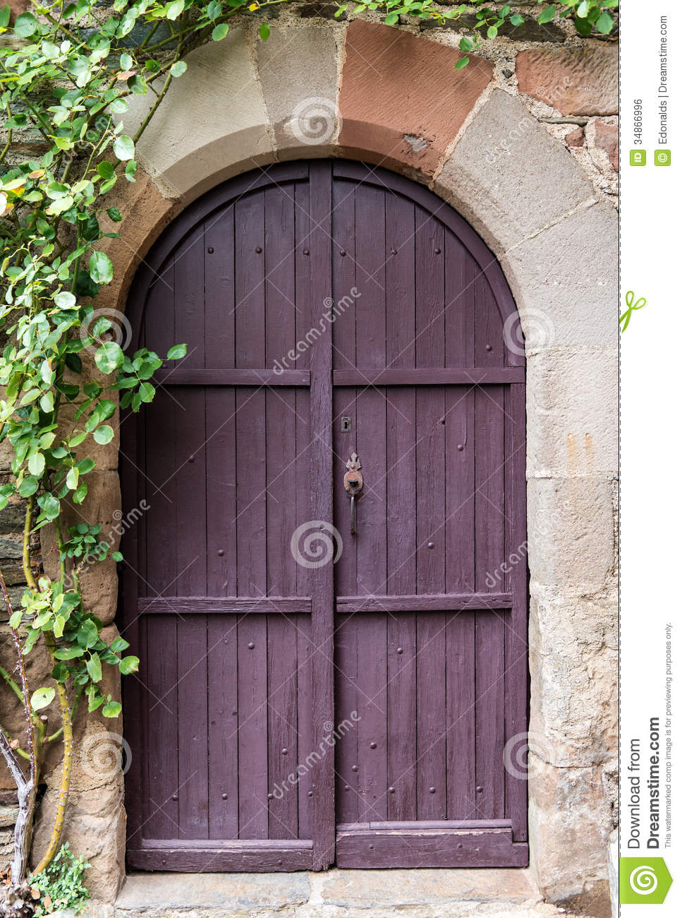 Old Purple Door Stock Photo Image Of Close Upright