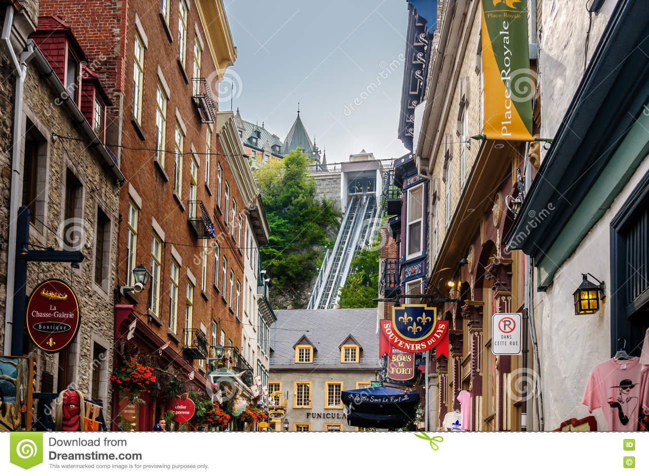Old Quebec City With Historic Buildings Editorial Image Image Of