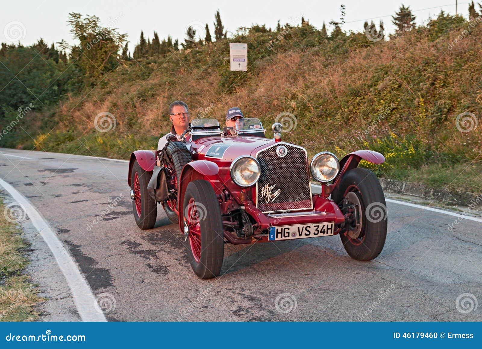 Old Racing Car Alfa Romeo 6C 2500 (1934) Editorial Image - Image of ...