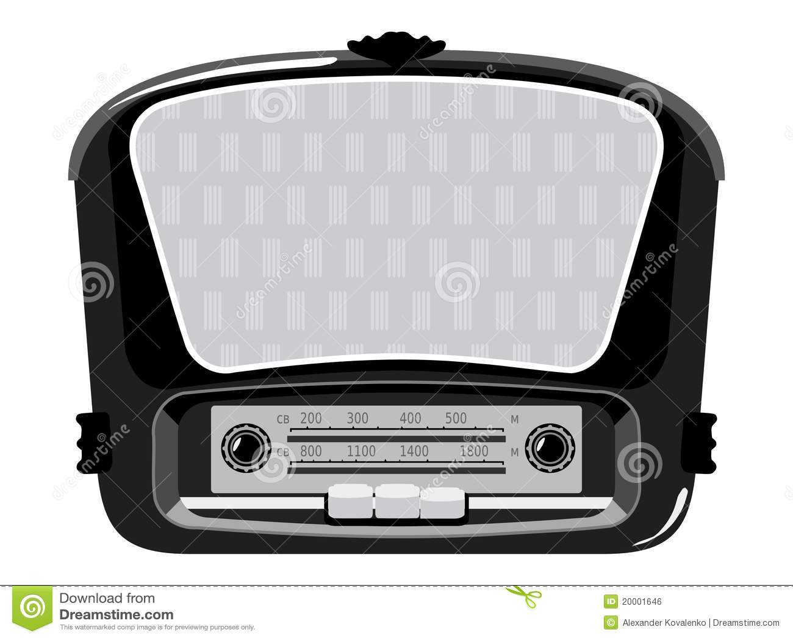 Old Radio Royalty Free Stock Image Image 20001646