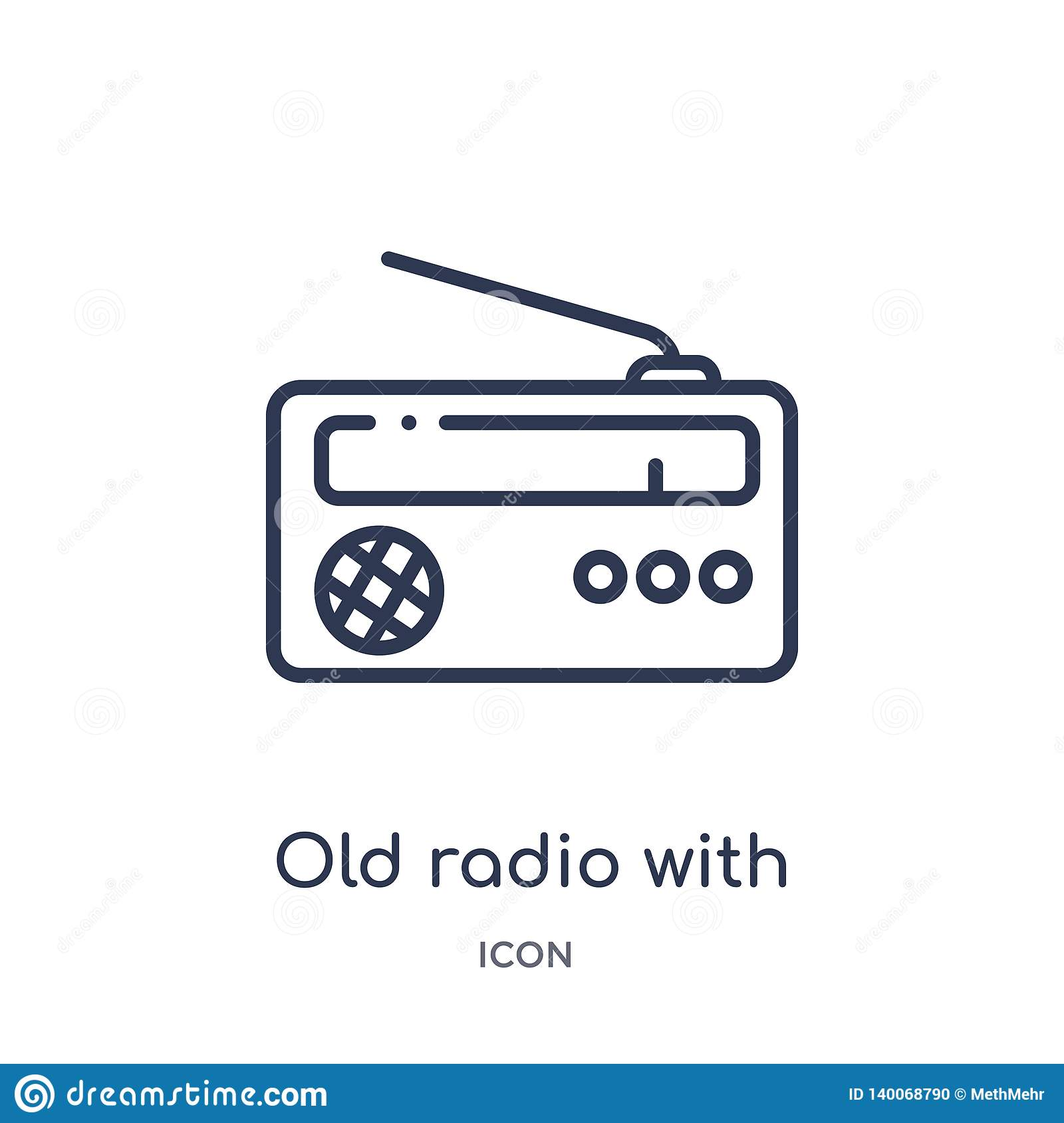 Old Radio With Antenna Icon From Ultimate Glyphicons Outline