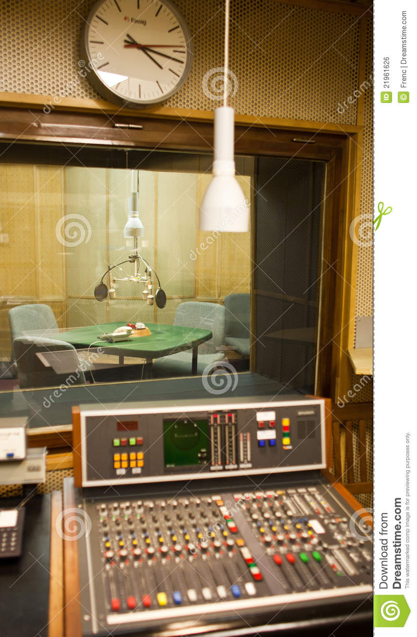 Old Radio Studio Inside Royalty Free Stock Image - Image ...