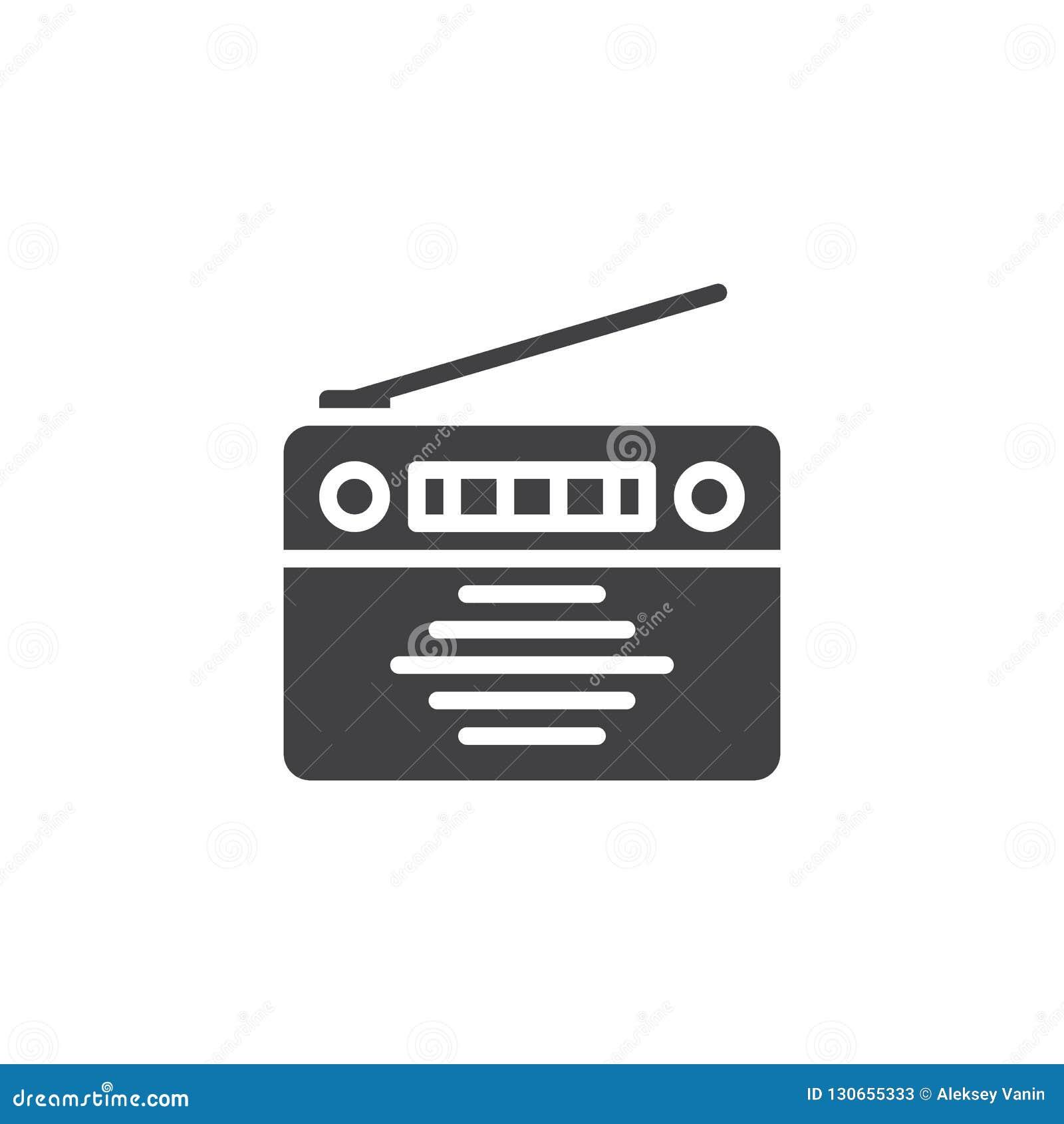 Old Radio vector icon stock vector  Illustration of news