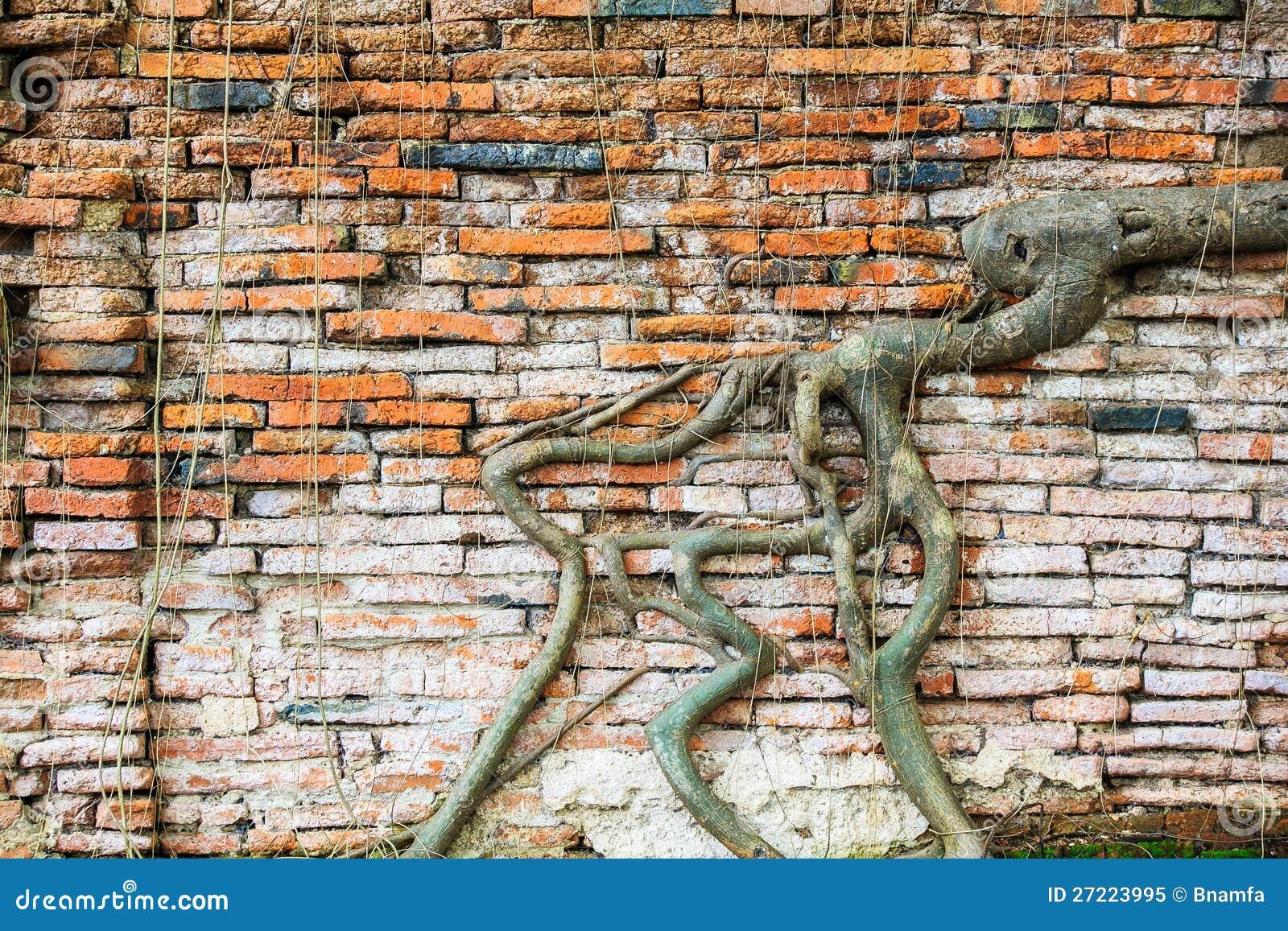 old  ragged brick wall texture royalty free stock photo