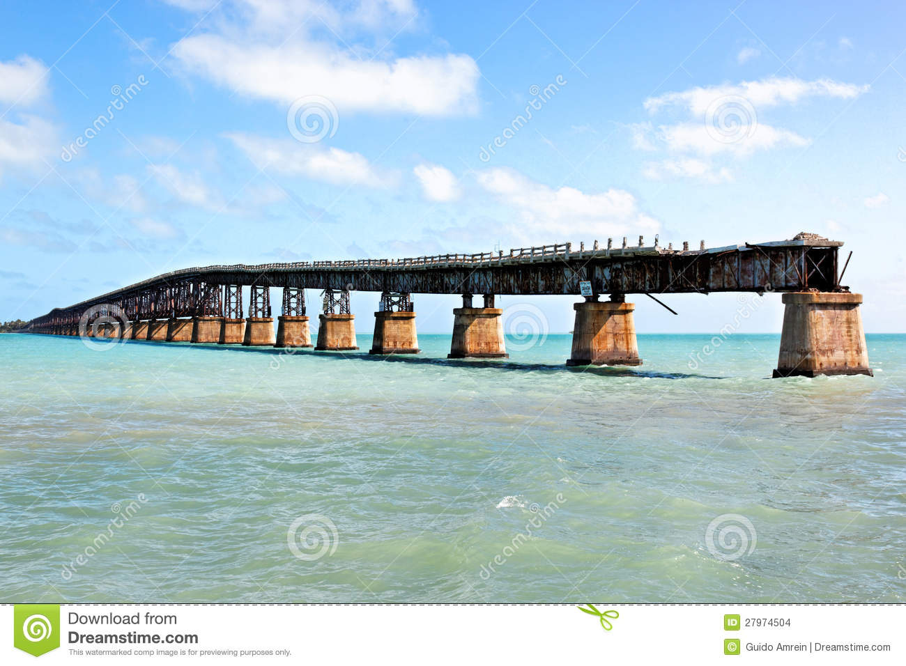 Tropical landscape south fla landscape - Old Railroad Bridge Florida Keys Stock Images Image