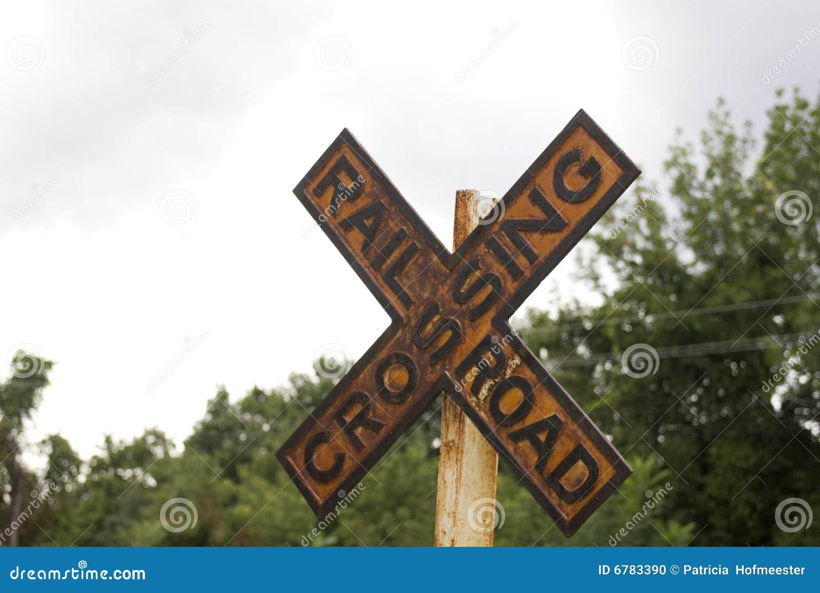 Railroad Crossing Clip Art Old railroad crossing sign