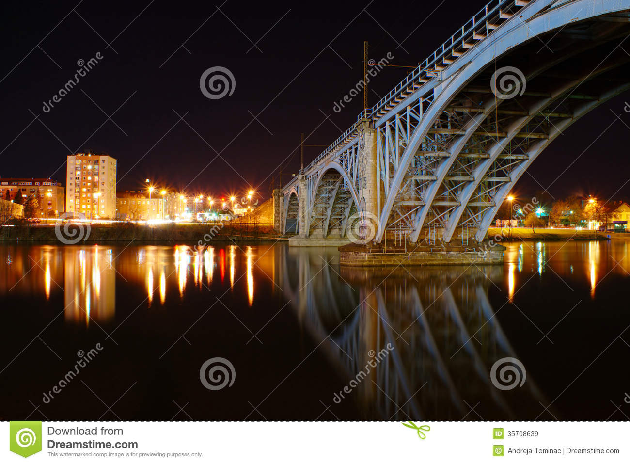 Old Railway Bridge By Night