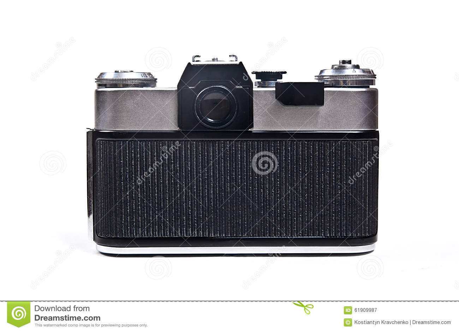Old Range Finder Vintage Photo Camera On White Background  Stock