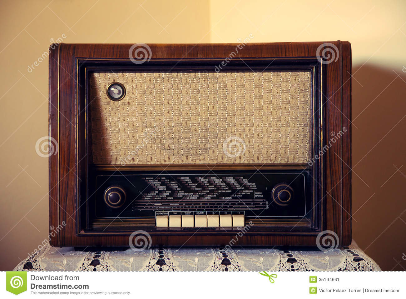 Old rare radio stock image image of wave broken dark for Classic house radio
