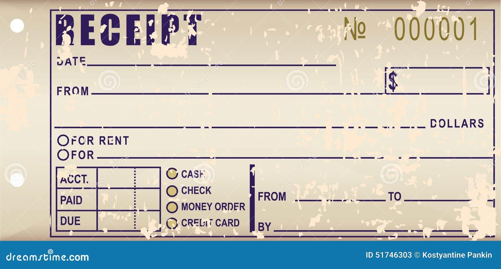old receipt stock illustration