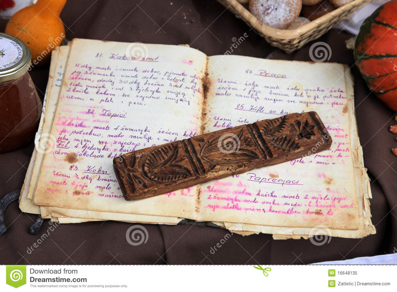 old recipe book stock image  image of kitchen  tools