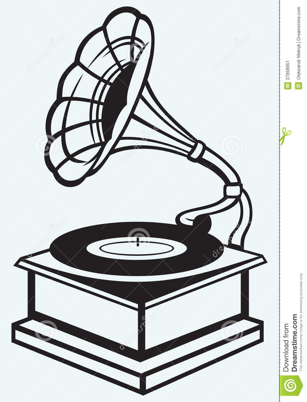 Old Record Player Stock Image - Image: 37858951
