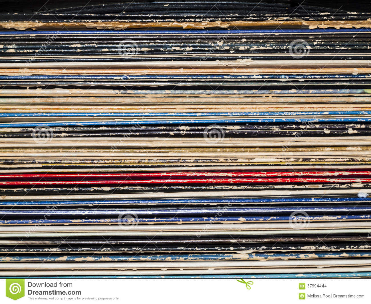 Old Records Stock Photo Image 57994444