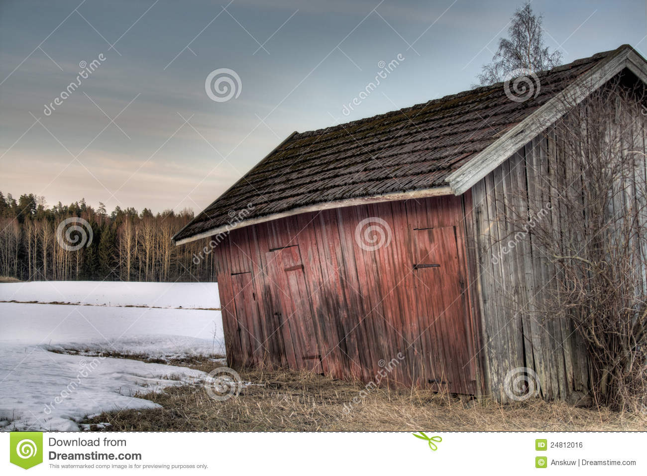 Old Red Barn Royalty Free Stock Image Image 24812016
