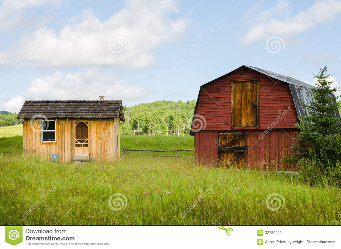 Old Red Barn Stock Photo Image Of Attractive Cabin