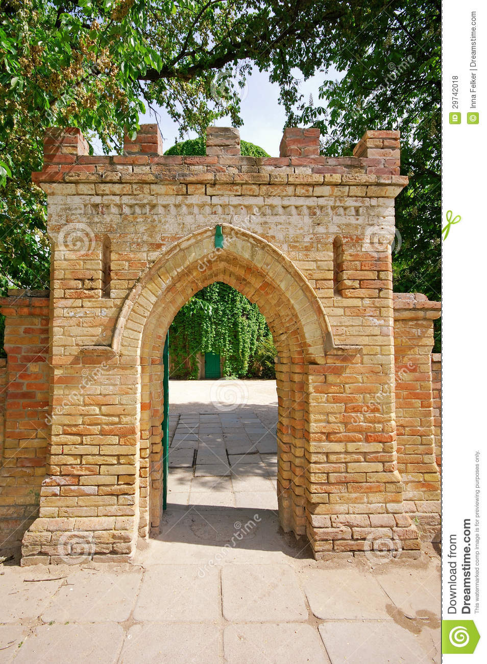 Brick Gate To An Old Castle Stock Photo Image Of Arch