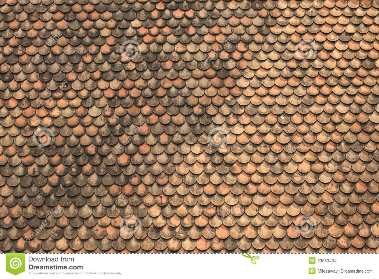 Old Red Brick Roof Tiles Stock Images Image 23853434