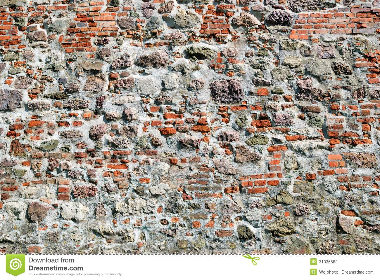 Red Brick Stone : Old red brick stone wall stock photos image