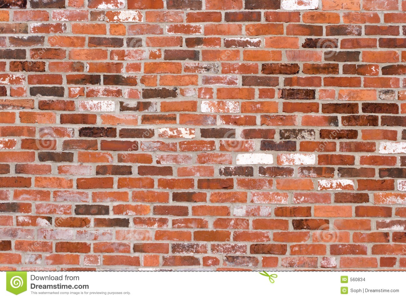 Old Red Brick Wall Stock Images Image 560834
