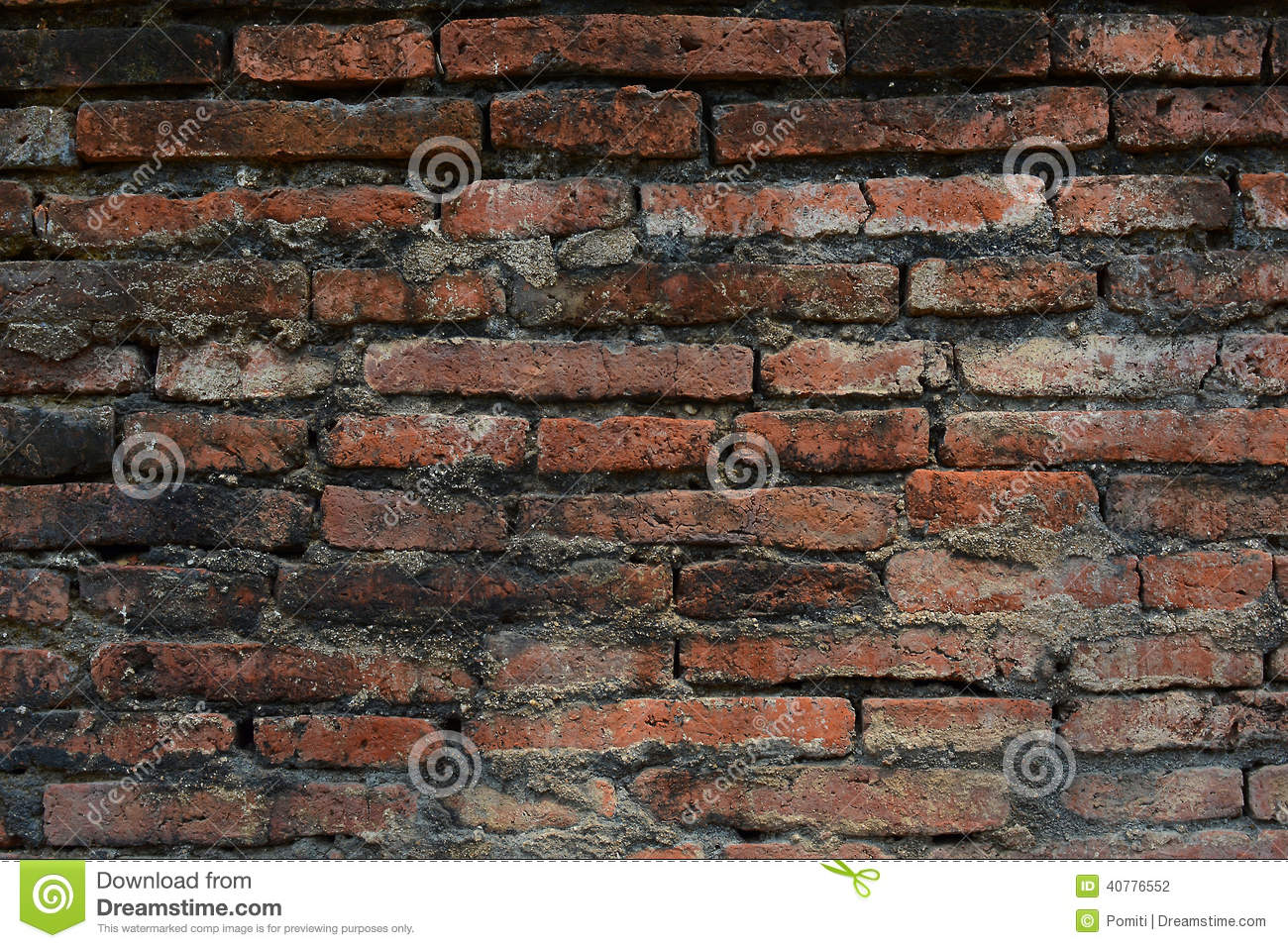 Old Red Brick Wall Of Ancient City Stock Photo - Image ...