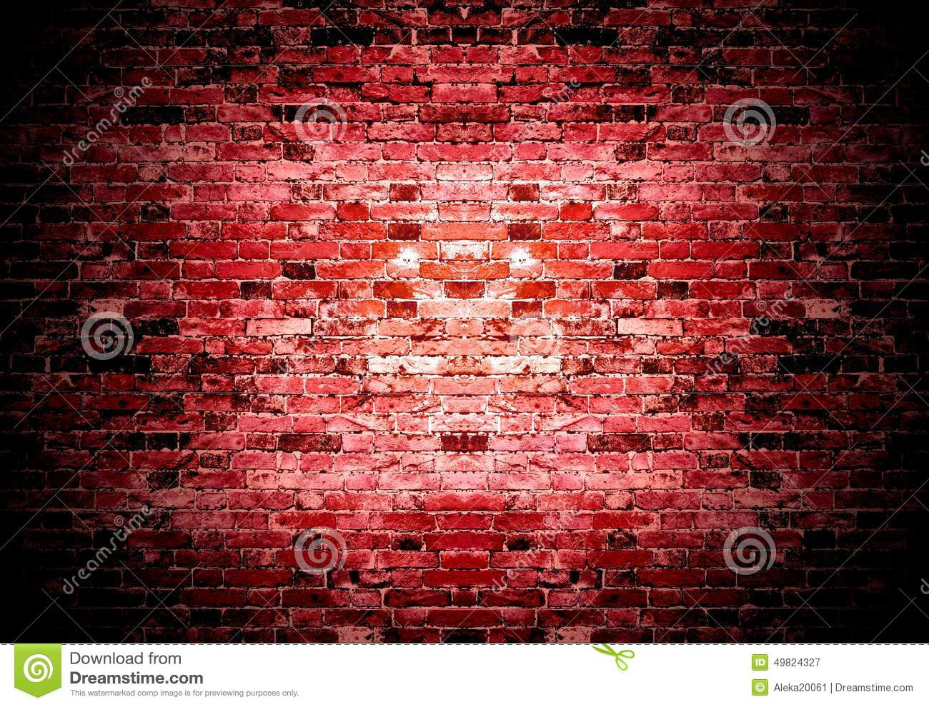 Old Red Brick Wall Background Stock Photo Image 49824327