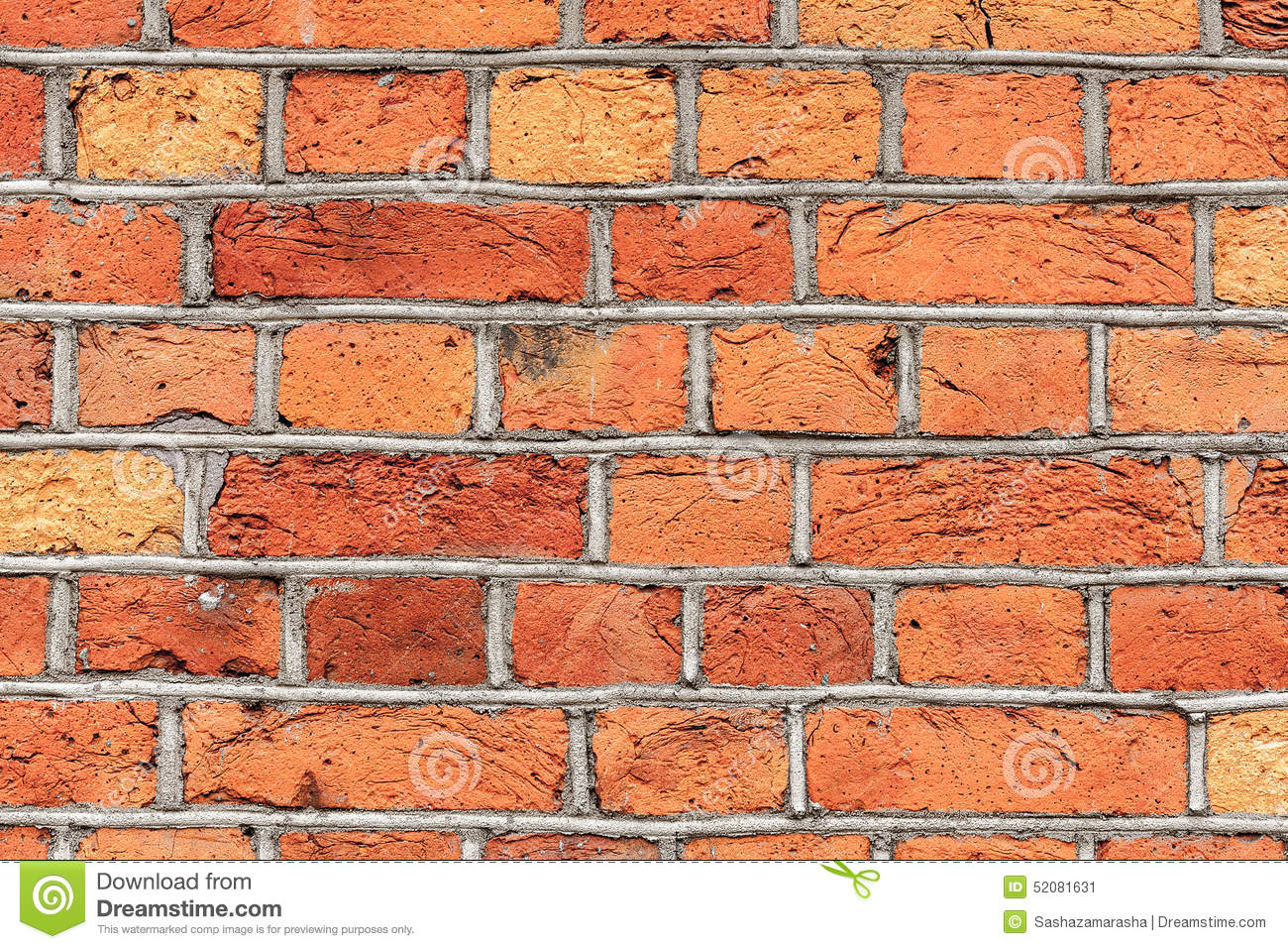 Red Brick Wall Decor : Old brick wall texture background stock image