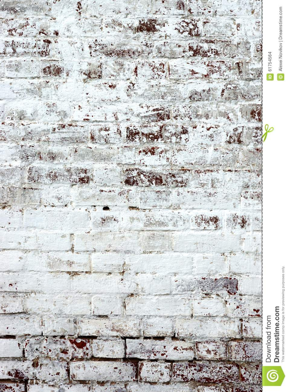 Old Red Brick Wall With Whitewash Backround Texture Stock Photo Image 61754564