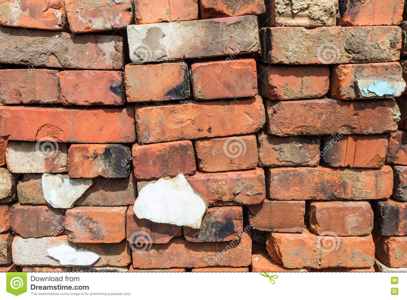 Red Clay Bricks : Red clay bricks for construction stock image
