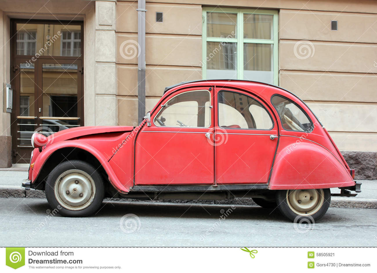 Old Red Car Stock Image Image Of Automobile Famous