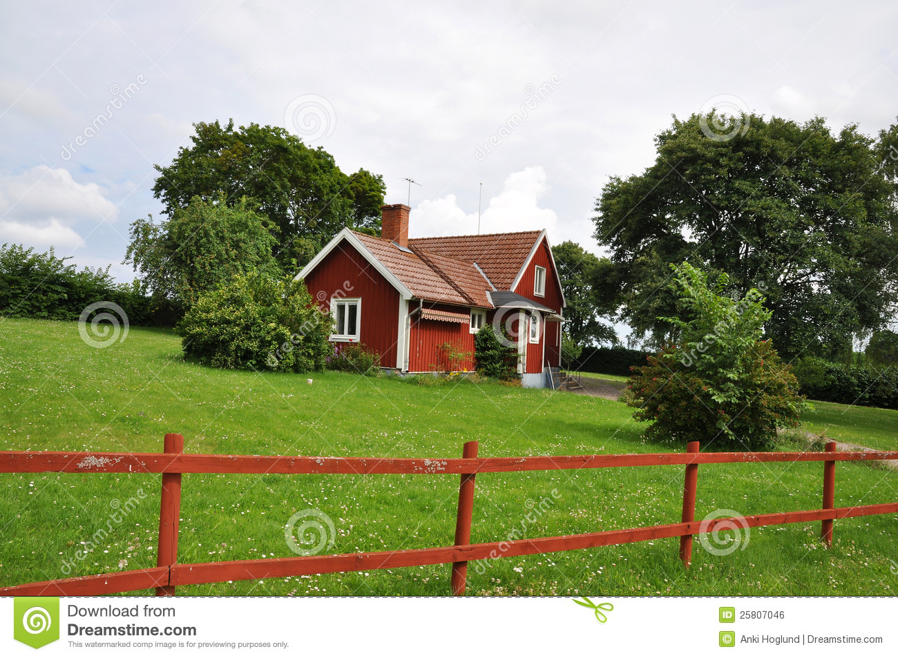 Old Red Cottage Royalty Free Stock Image Image 25807046
