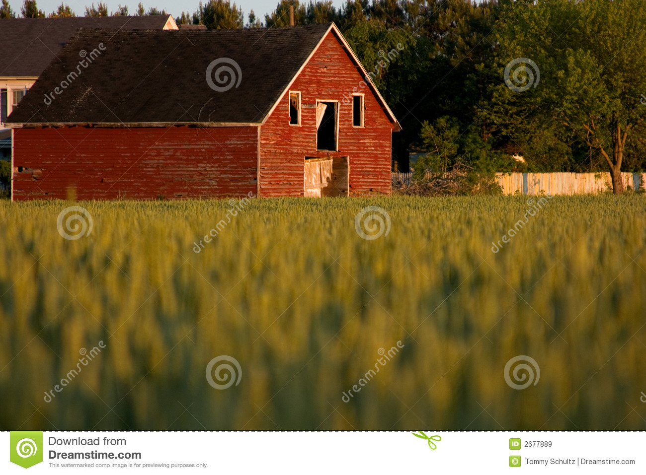Old Red Country Barn Royalty Free Stock Images Image