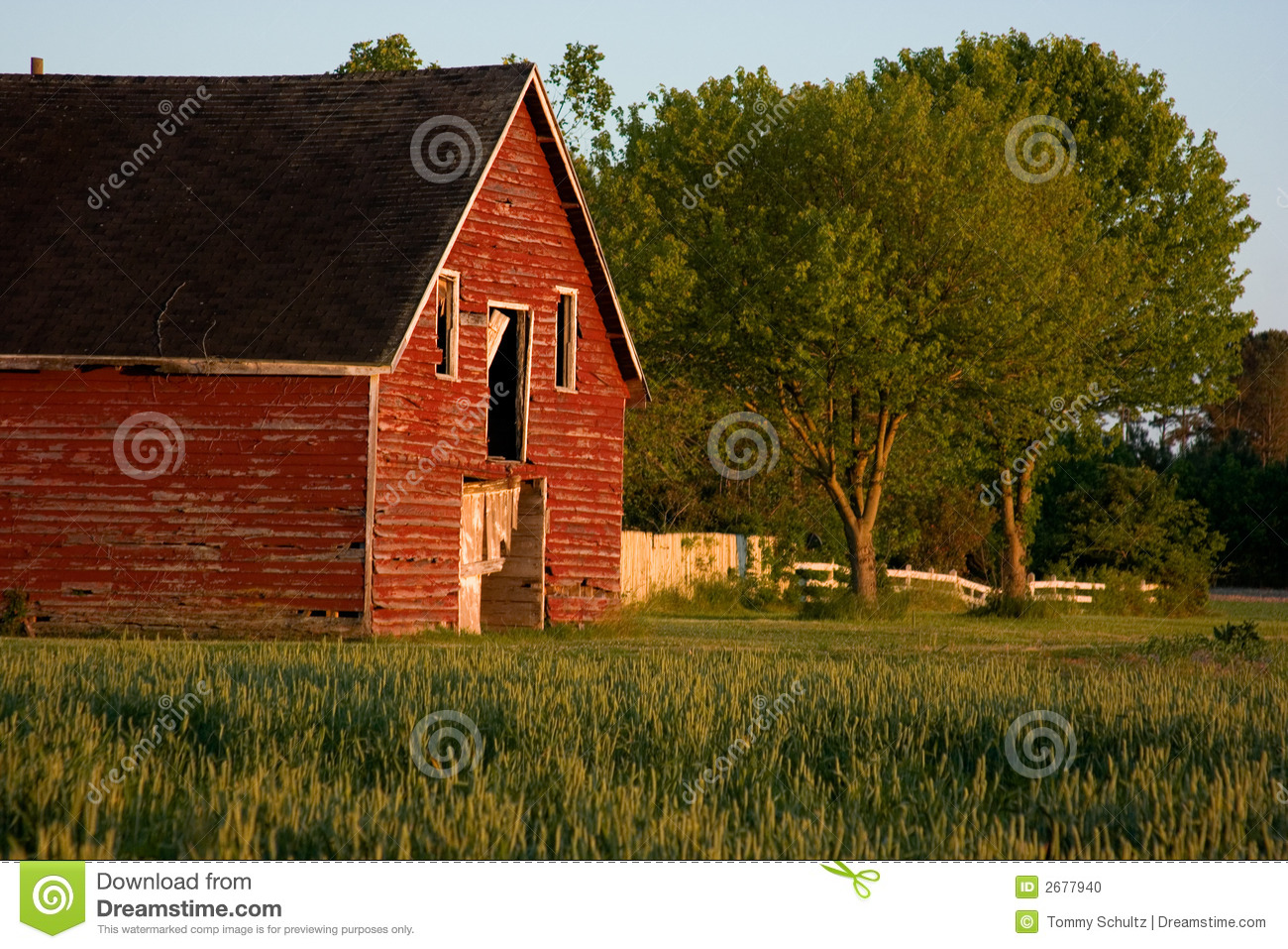 Old red country barn