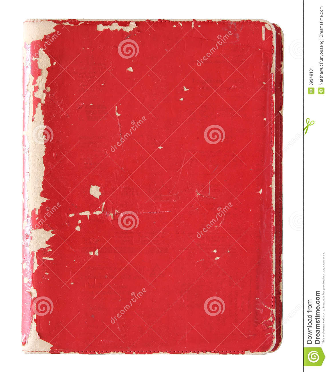 Old Red Book Cover : Old red cover book isolated stock photo image