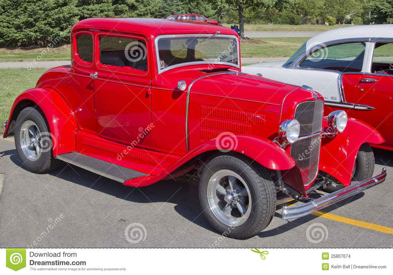 Fox Valley Ford >> Old Red Ford Hot Rod Editorial Stock Image - Image: 25807674