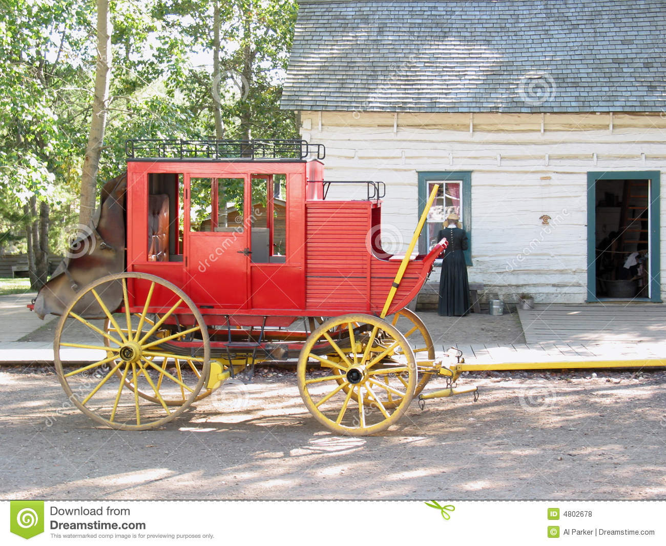 Old Red Horse Wagon