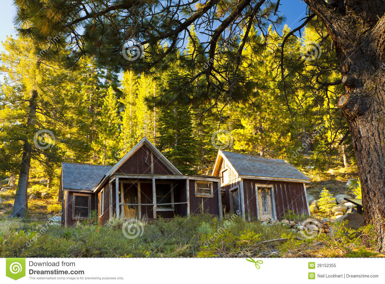 Old red house in the woods royalty free stock photo image 26152355 - The house in the woods ...