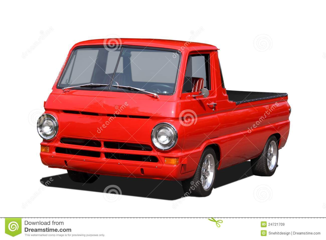 Old Red Pick Up Truck Stock Photo 24721709 - Megapixl