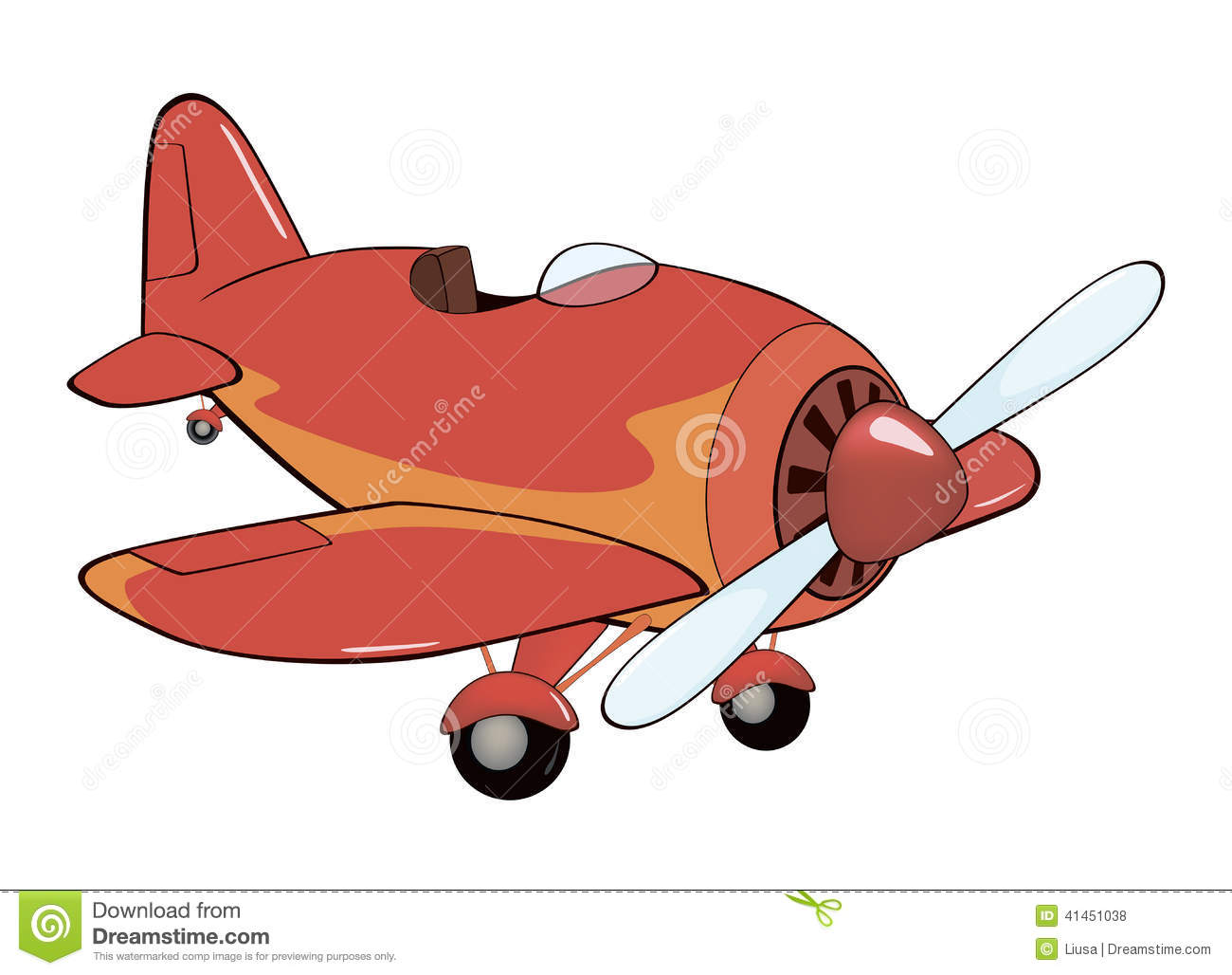 The Old Red Plane Cartoon Stock Vector Illustration Of Glasses