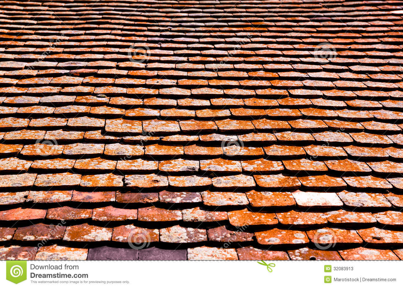 Royalty Free Stock Photo. Download Old Red Roof Tiles ...
