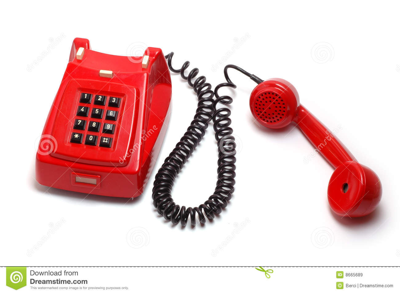 Old Red Telephone Stock Image Image Of Earphone Dial